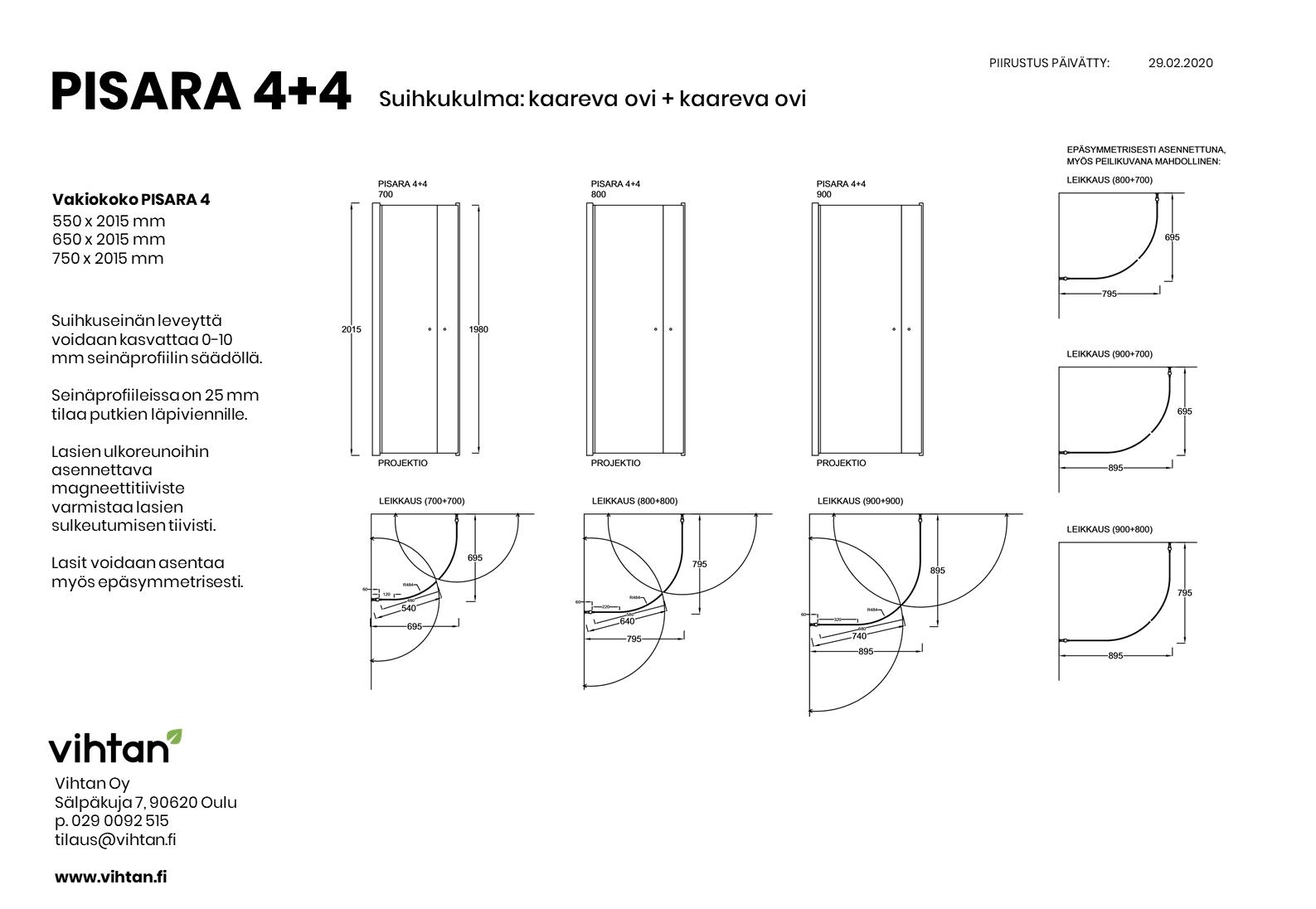 mittakuva_suihkukulma_PISARA 4+4