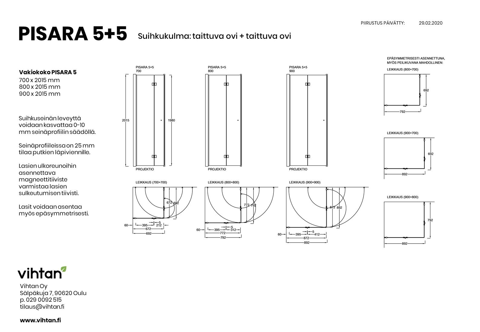 mittakuva_suihkukulma_PISARA 5+5