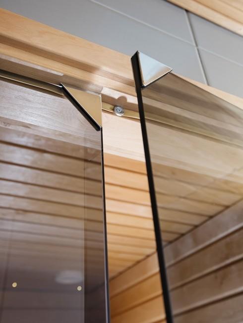 LÖYLY 2 saunan lasipariovi | magneettisulkija