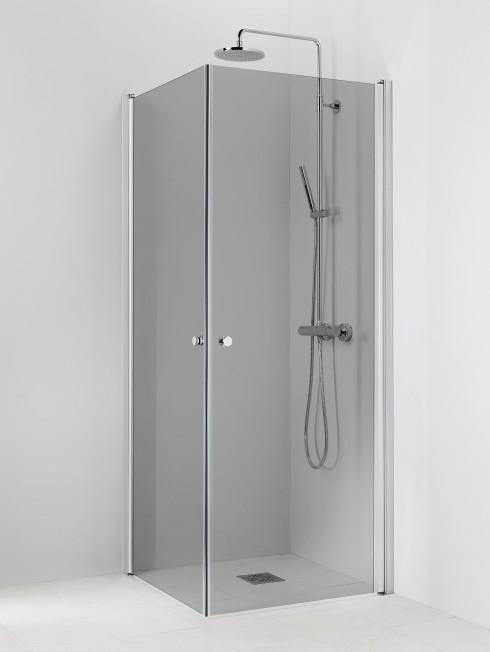 PISARA 3+3 suihkukulma | harmaa lasi ja matta profiili