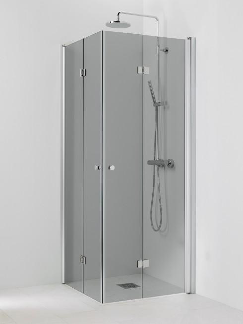 PISARA 5+5 suihkukulma | harmaa lasi ja matta profiili