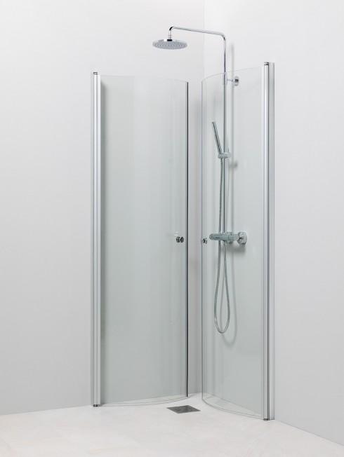 PISARA 4+4 suihkukulma | ovet käännetty seinää vasten