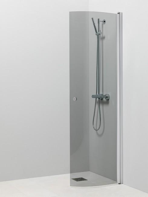 PISARA 4 suihkuseinä | harmaa lasi ja matta alumiini