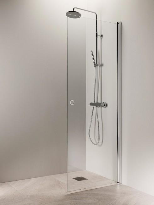 PURO 3 suihkuseinä | kiiltävä alumiini