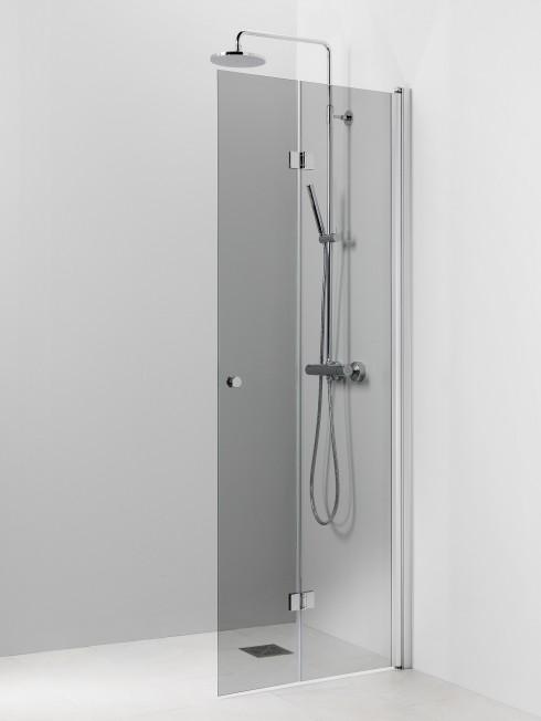 PISARA 5 suihkuseinä | harmaa lasi ja matta profiili