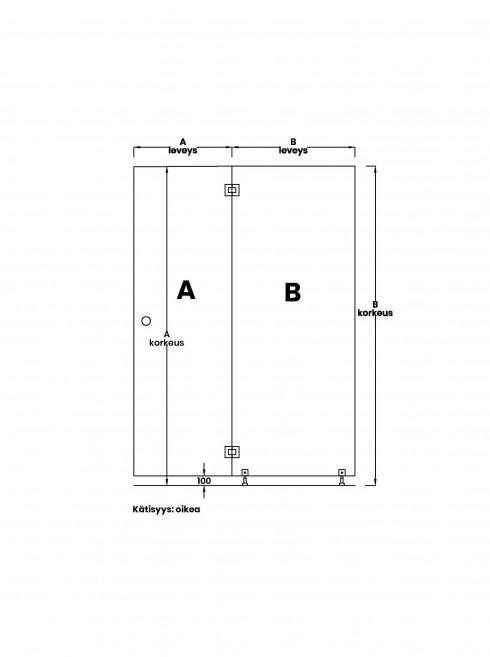 VIHTA 3 lasiseinä | kätisyys oikea