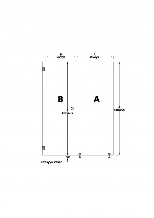 VIHTA 6 lasiseinä | kätisyys vasen