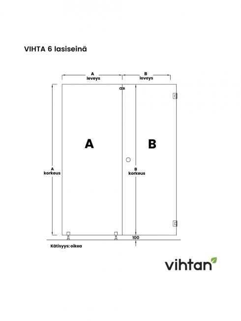 VIHTA 6 lasiseinä   kätisyys oikea