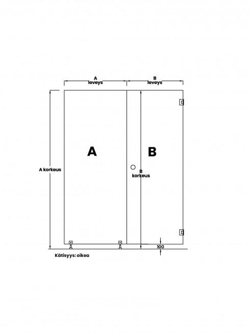 VIHTA 6 lasiseinä | kätisyys oikea