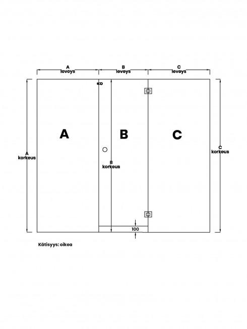 VIHTA 8 lasiseinä | kätisyys oikea